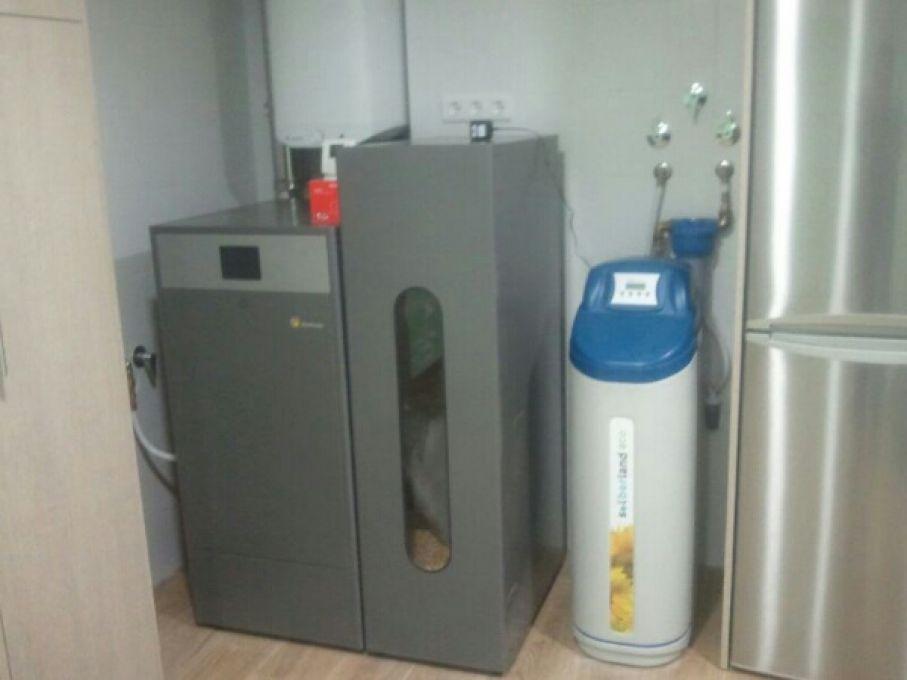 Caldera de pellet de limpieza automática